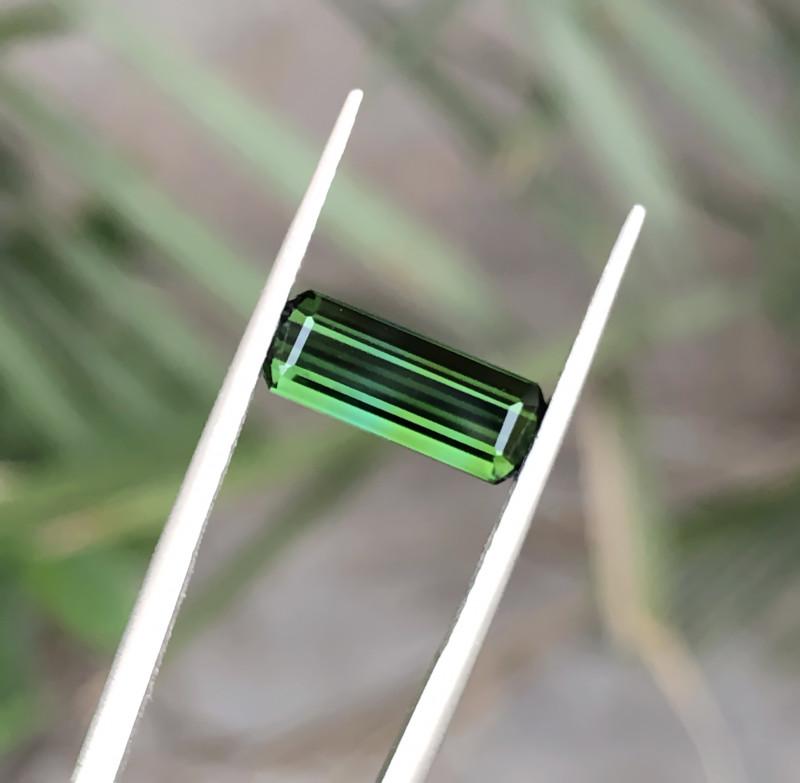 1.70 Ct Natural Greenish Transparent Tourmaline Gemstone