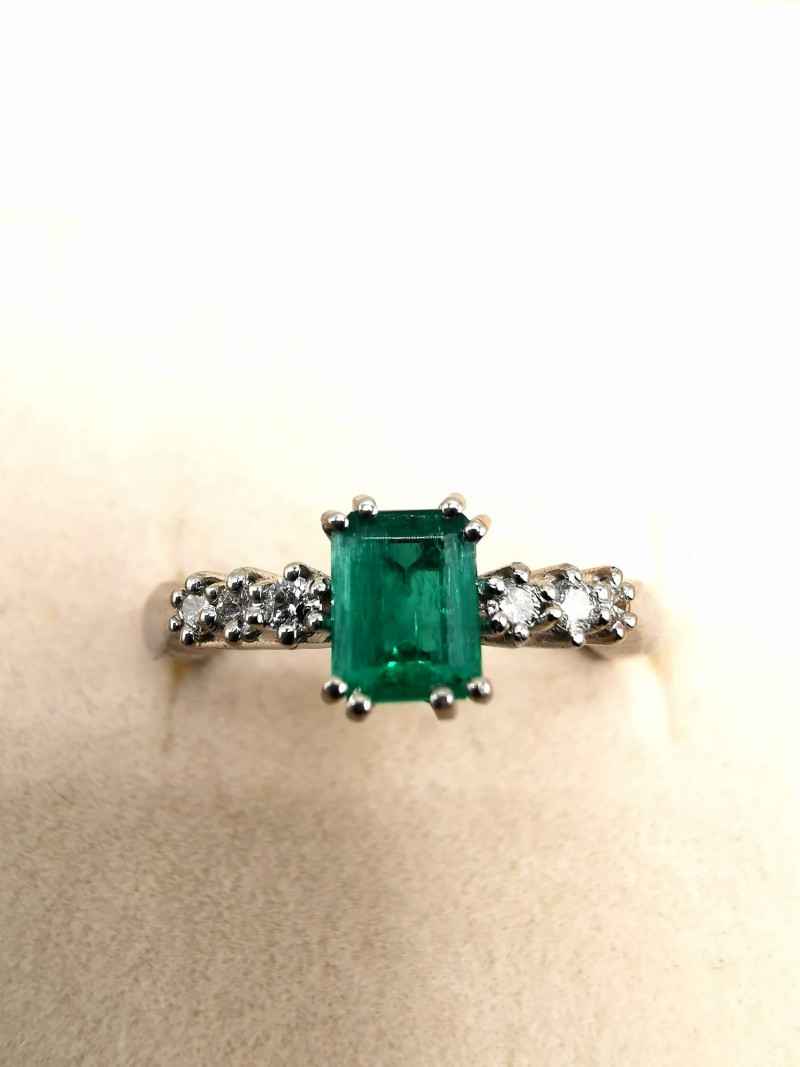 0,47ct Colombian Emerald 18k Solid Gold Ring Colombian Emerald Colombian Em