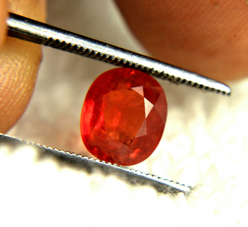 2.65 Carat Orangy Red SI Sapphire - Gorgeous