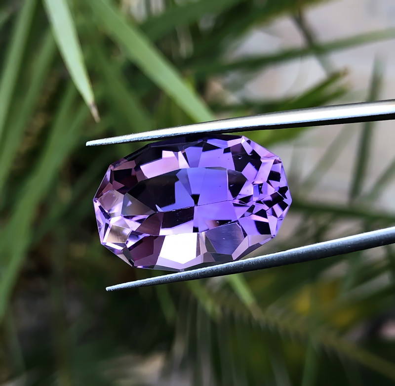 19.90 Ct Natural  Purplish  Transparent Amethyst Gemstone