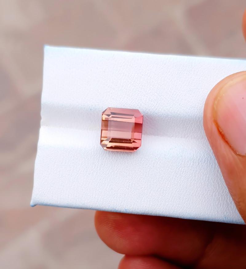 4 Ct Natural Pinkish Orange Transparent Tourmaline Gemstone