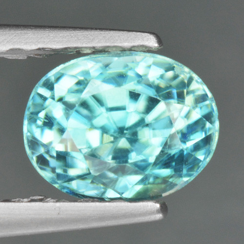 1.40 CTS BLUE ZIRCON NATURAL LOOSE GEMSTONE