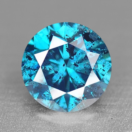 0.18 Cts Fancy Vivid Blue Color Natural Loose Diamond