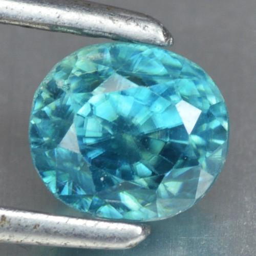 1.61 CTS BLUE ZIRCON NATURAL LOOSE GEMSTONE