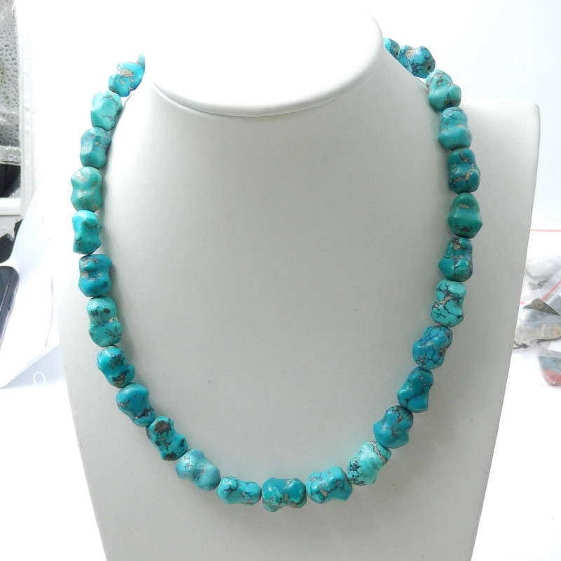 224cts Fashion Natural Turquoise Necklace,Beautiful Turquoise Jewelry D878