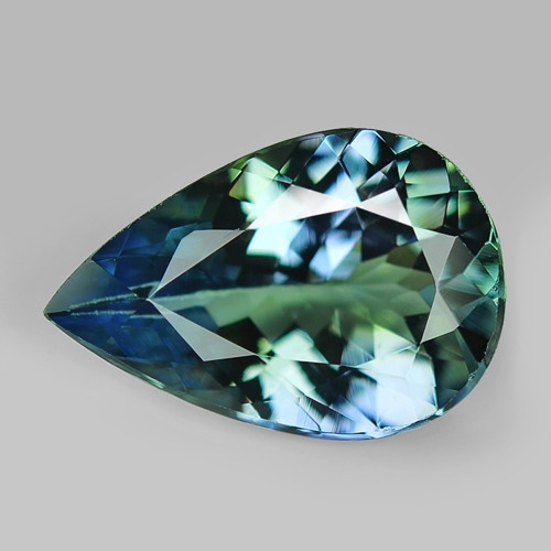 2.17  CTS FANCY  BLUE GREEN COLOR NATURAL TANZANITE LOOSE GEMSTONE