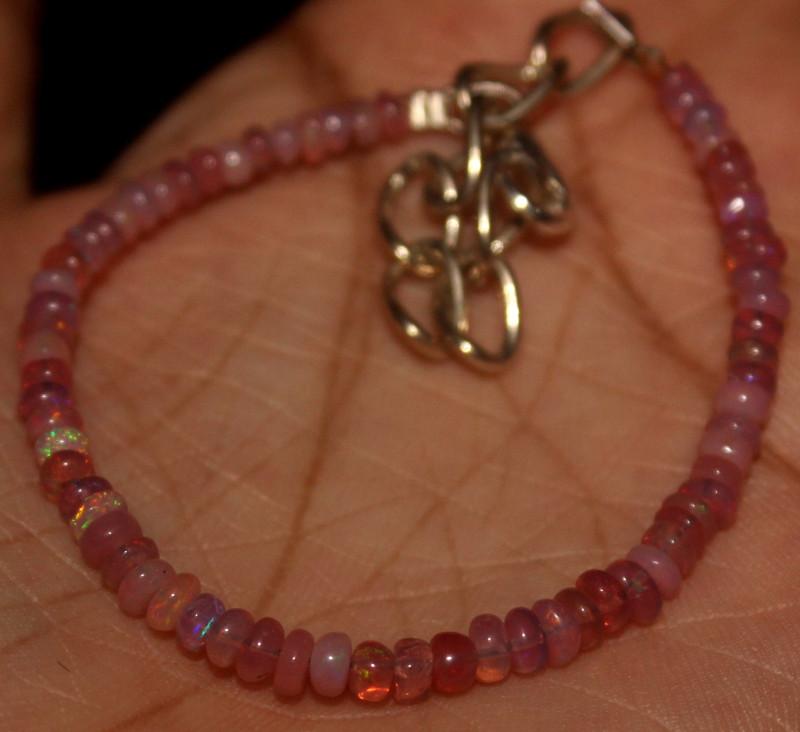 11 Crts Natural Welo Smoked Opal Beads Bracelet 875