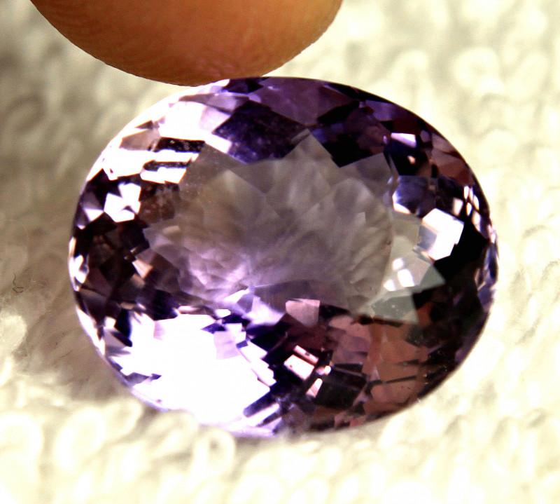 12.37 Ct. Bolivian Purple Gold VVS Ametrine - Gorgeous