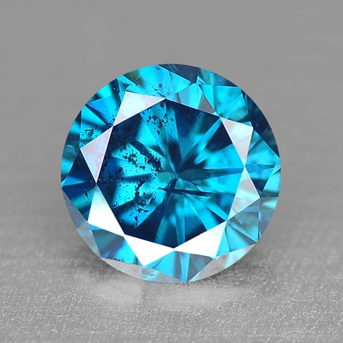 0.13 Cts SPARKLING RARE FANCY BLUE COLOR NATURAL DIAMOND