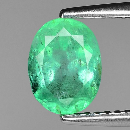1.32 CTS NATURAL EARTH MINED GREEN COLOR COLOMBIAN EMERALD LOOSE GEMSTONE