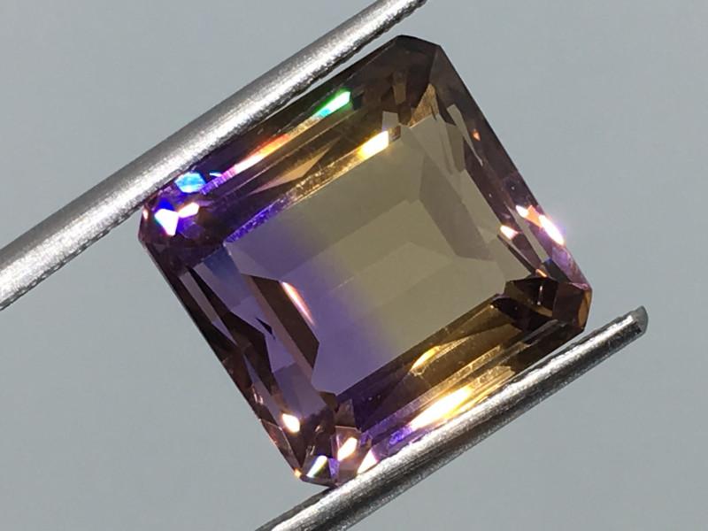 6.76 Carat VVS Ametrine Incredible Flash Quality  Bolivia Rare !
