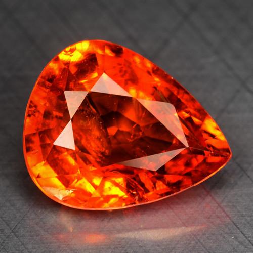 4.27 Cts Natural Spessartite Garnet Fanta Orange Red Loose Gemstone
