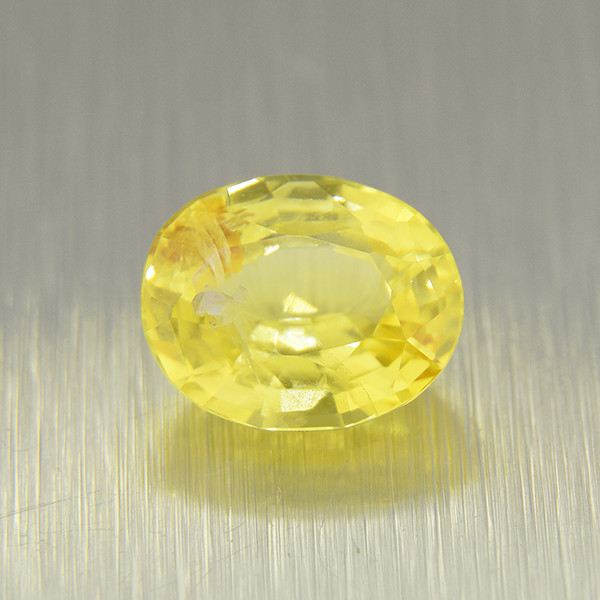 Unheated Yellow Sapphire 2.64ct ,Vivid Colour  (01624)