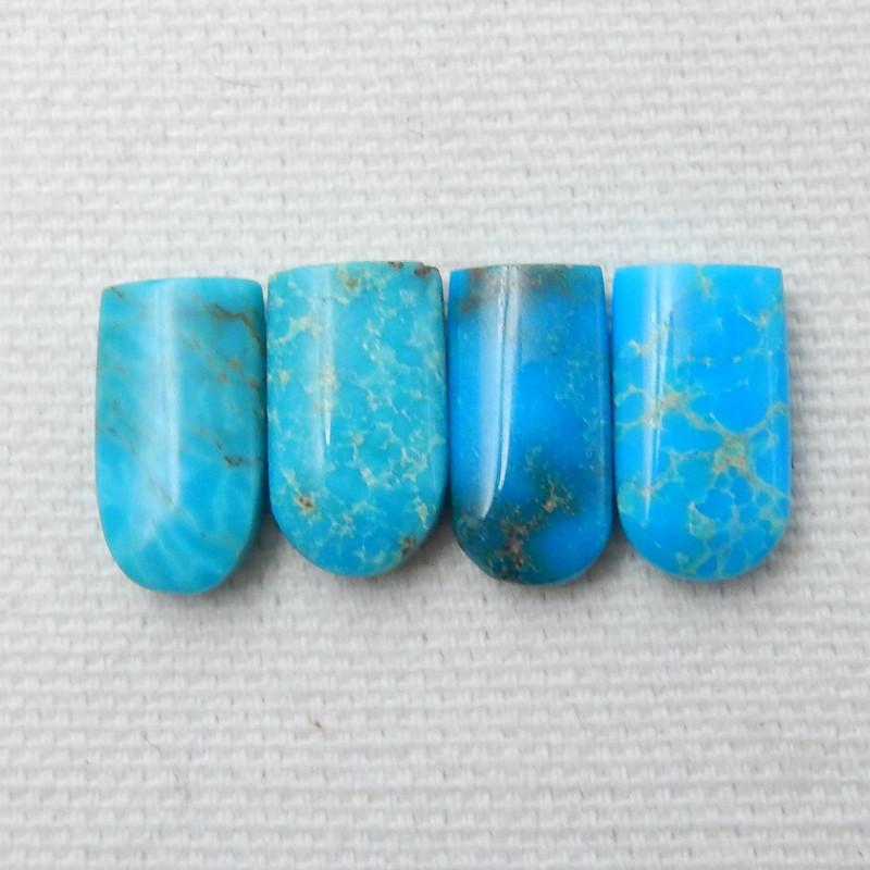 17.5ct 4Pcs Fashion Natural Turquoise Cabochon E19