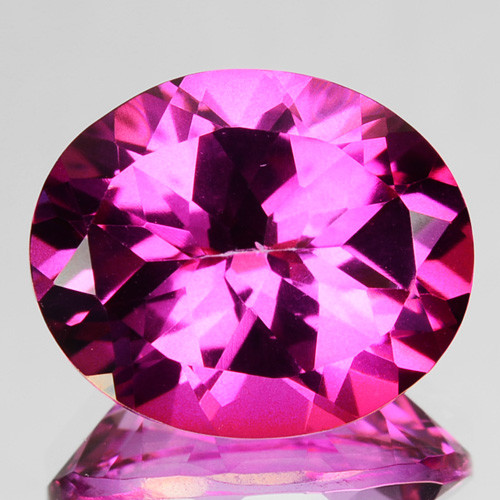 5.69 Cts Candy Pink Natural Topaz 12x10mm Oval Cut Brazil