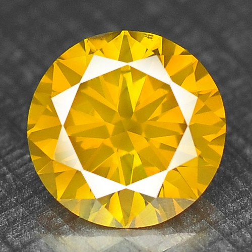 0.28 Cts Sparkling Fancy Vivid Yellow Color Natural Loose Diamond