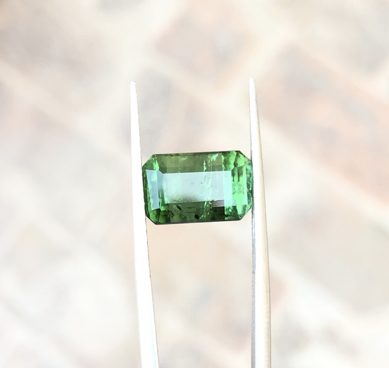 5 Ct Natural Greenish Transparent Tourmaline Gemstone