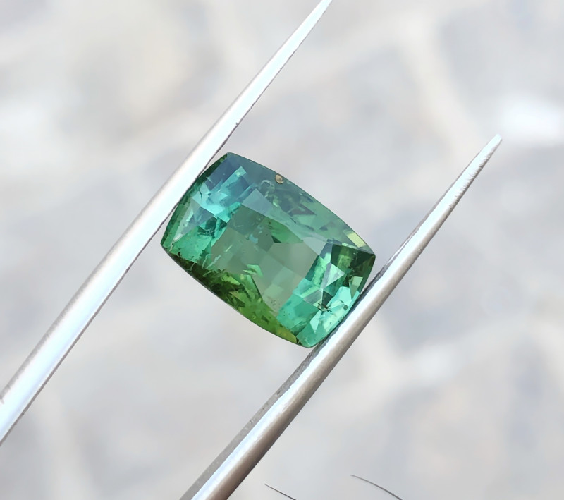 5.30 Ct Natural Greenish Transparent Tourmaline Gemstone