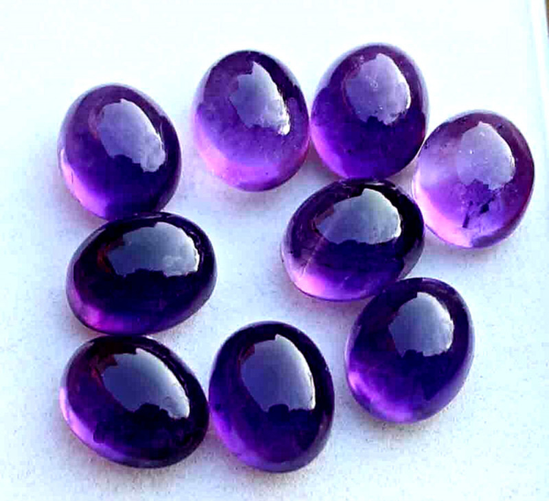 41.4 Tcw. Amethyst Cabochon Accents - Gorgeous