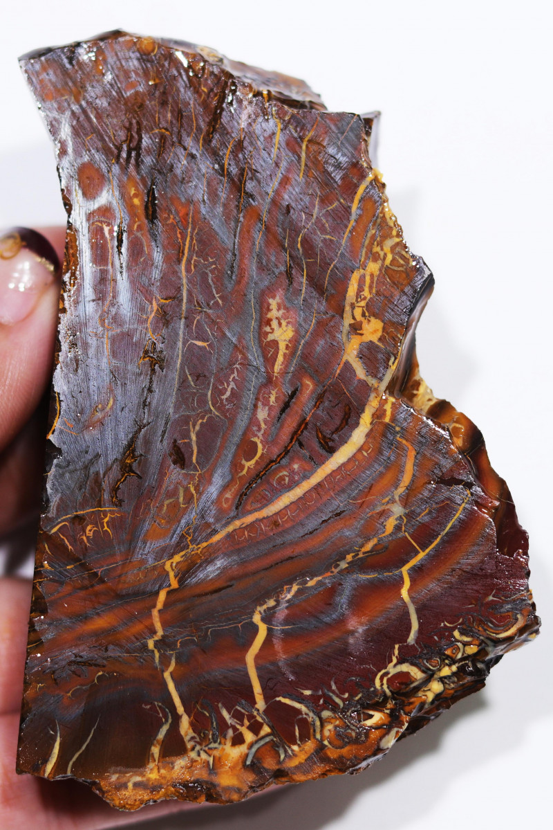 905 CTS  CHOCOLATE  IRONSTONE  ROUGH /  WHITE  SILICA [F8122
