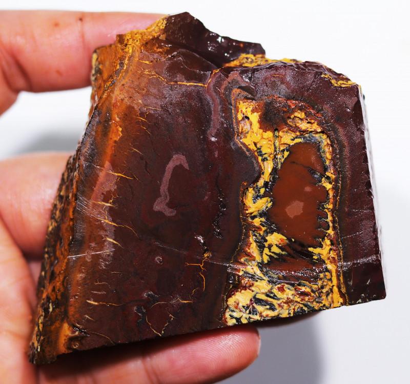 480 CTS  CHOCOLATE  IRONSTONE  ROUGH /  WHITE  SILICA [F8128