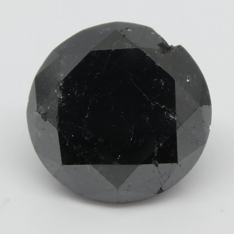 2.68ct Black Diamond Round-$1 No Reserve Auction