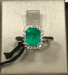 1,42ct Colombian Emerald 18k Solid Gold Ring Colombian Natural Emerald Colo