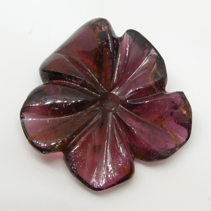 18.73ct Purple Tourmaline Flower Carving