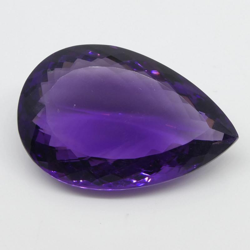 34.19ct Amethyst Pear Shape