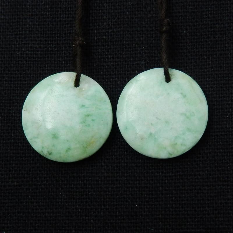 Beautiful Round Emerald Earrings, Healing Stone.Natural Gemstone E64