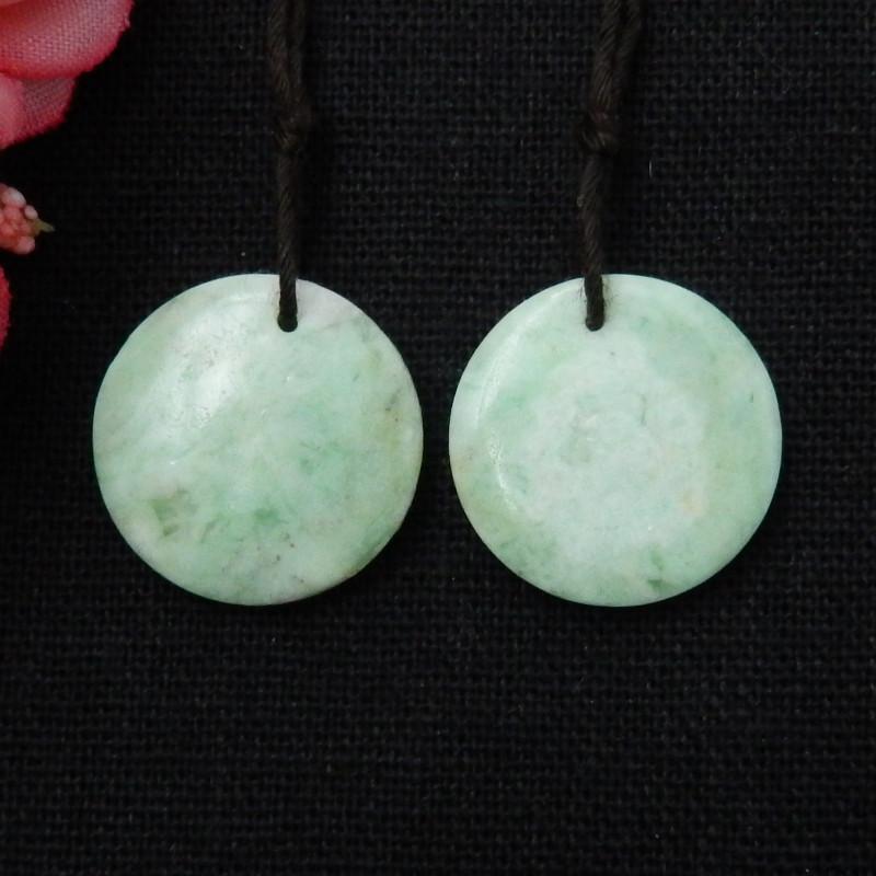 Beautiful Round Emerald Earrings, Healing Stone.Natural Gemstone E63