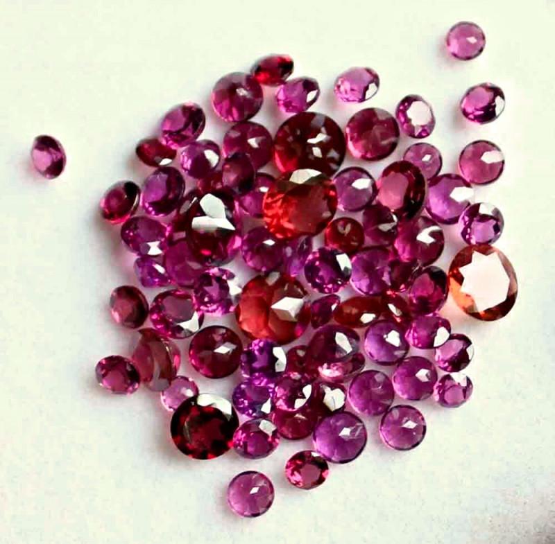 22.7 Tcw. Purple African Rhodolite Garnets - Gorgeous