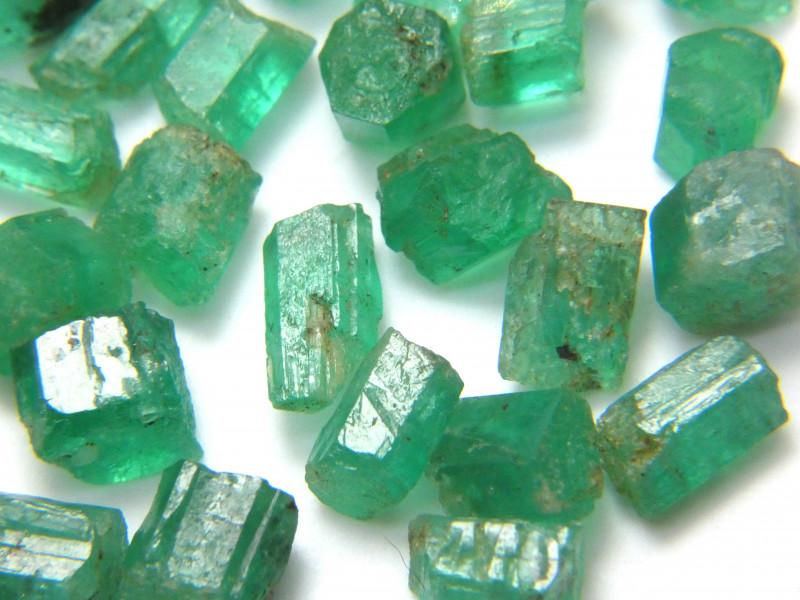 60Ct Natural Emerald Facet Rough Parcel