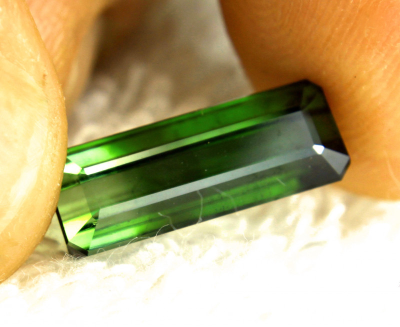 5.92 Carat Fancy Green Nigerian Tourmaline - Gorgeous