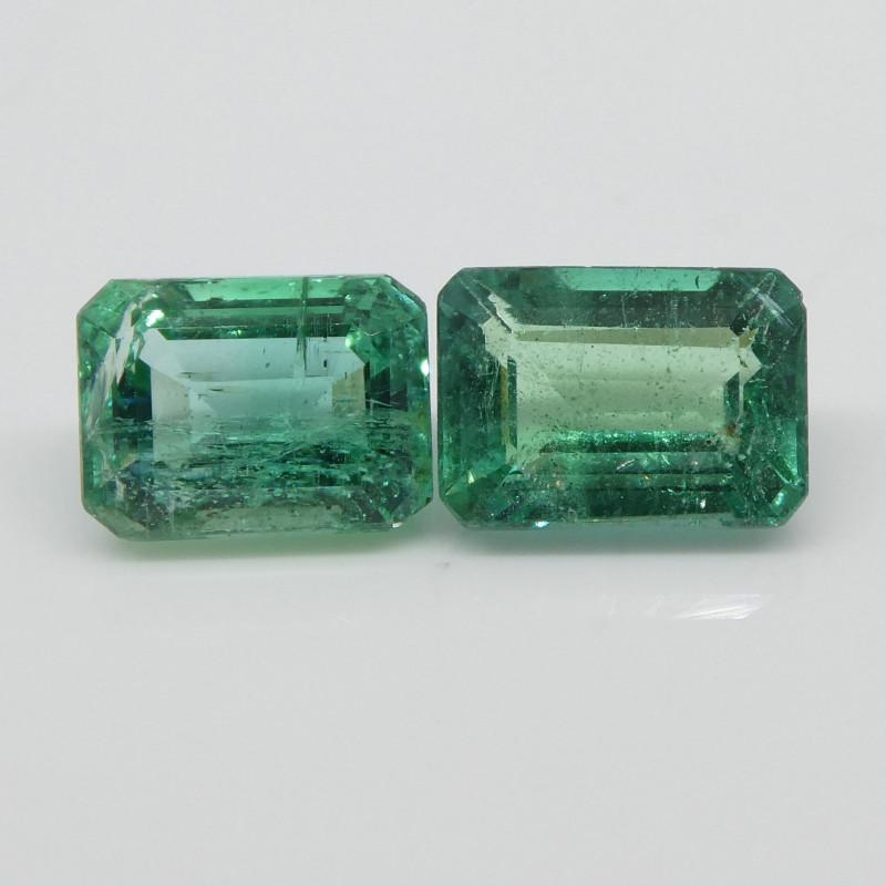 2.34ct Emerald Pair Emerald Cut