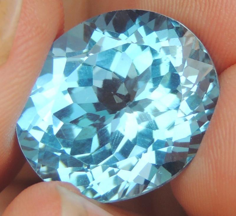 20.96cts, Swiss Blue Topaz,   Top Cut