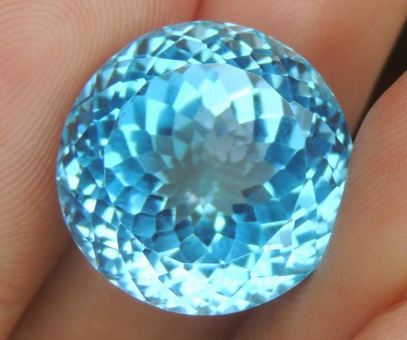 24.85cts, Swiss Blue Topaz,   Top Cut