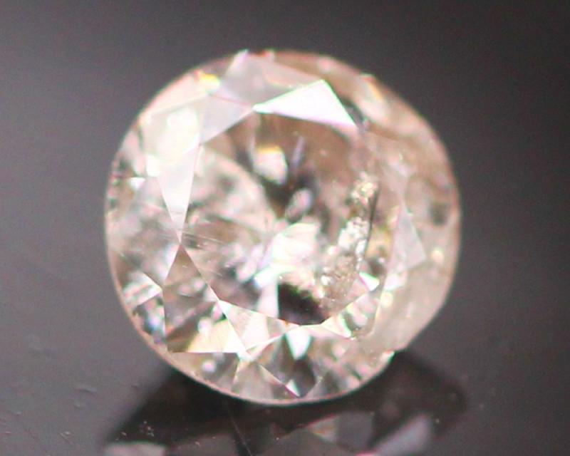 Argyle Pink 0.19Ct Natural Round Cut Pink Color Diamond D0311