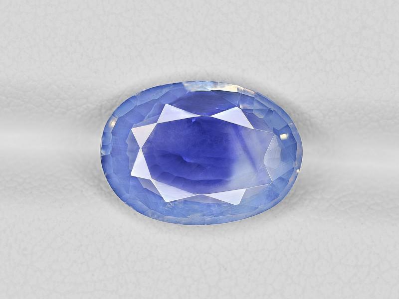 Blue Sapphire, 4.55ct - Mined in Kashmir | Certified by GRS