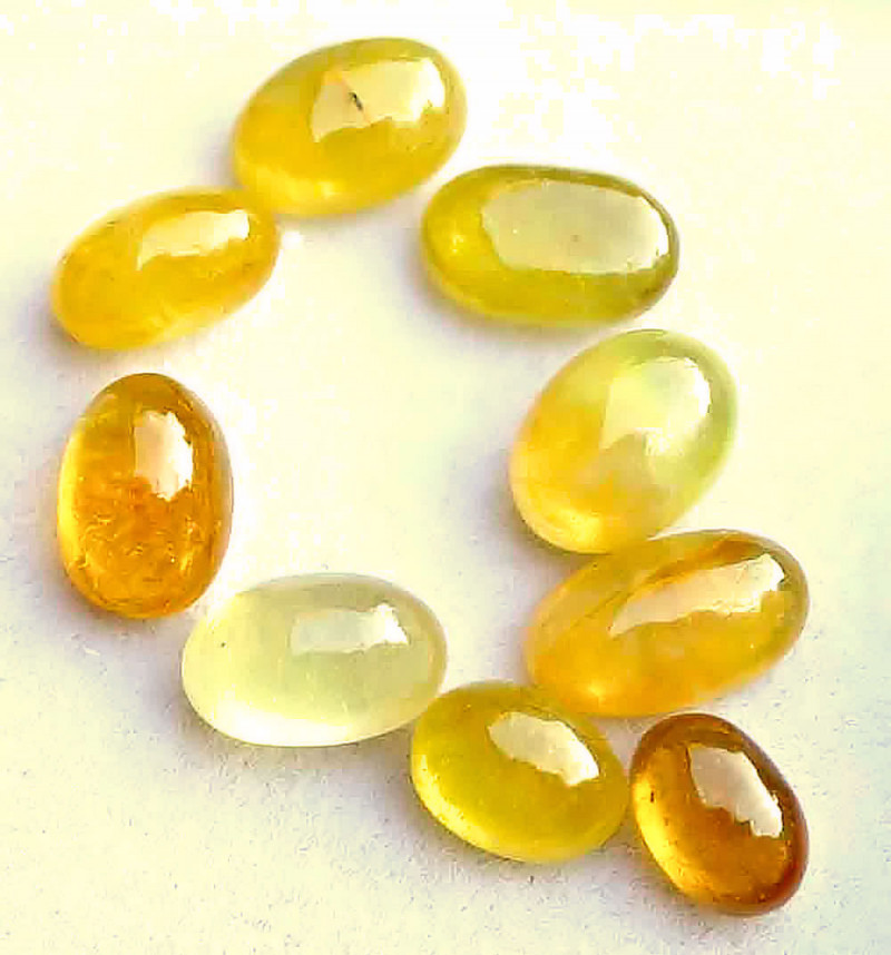 34.00 Tcw. Composite Yellow Sapphire Cabochons - 12 x 7