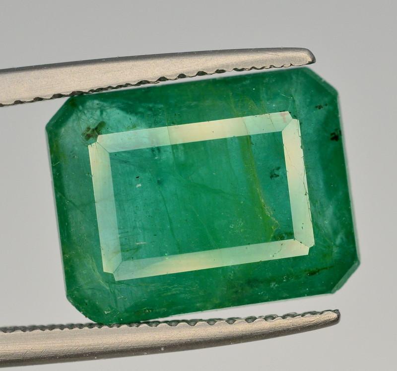 GIL CERT~6.68  Ct Natural Zambia Emerald Gemstone