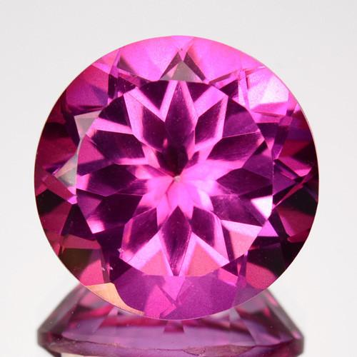 6.81Ct Natural Pink Topaz Round 11mm
