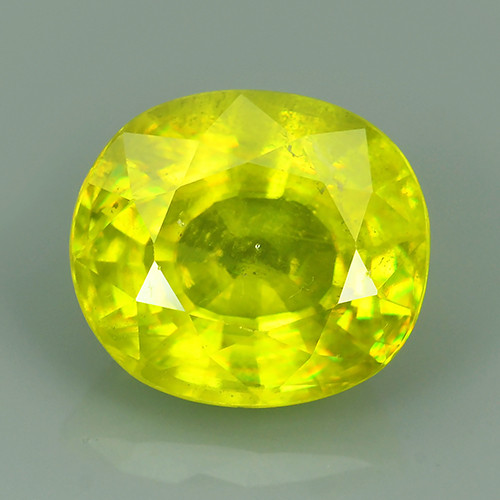 2.70 CTS UNHEATED NATURAL ULTRA RARE CUTTING MULTI TOP GREEN COLOR SPHENE