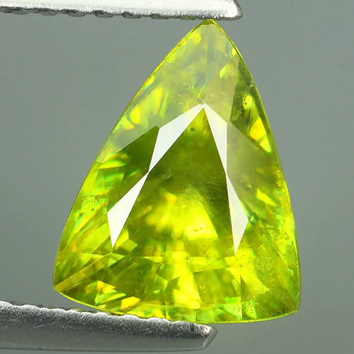 2.10 Cts SPARKLING NATURAL ULTRA RARE MULTI TOP GREEN COLOR  SPHENE