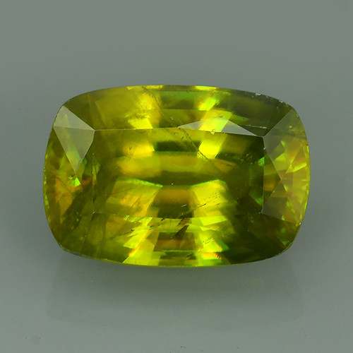 4.70 Cts:Lustrous Vivid Greenish Yellow Hue Natural Sphene!!