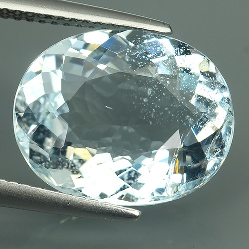 7.75 CTS-EXQUISITE NATURAL UNHEATED OVAL-CUT BLUE -AQUAMARINE~BEAUTY!!