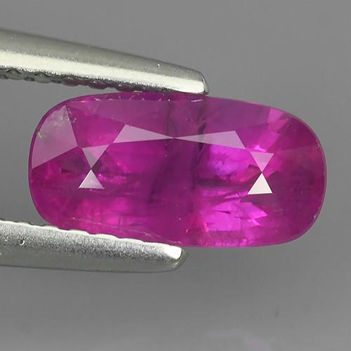 CERIFIED 1.46 CTS VIVID PINKISH RED RUBY HEATED PEAR CUT