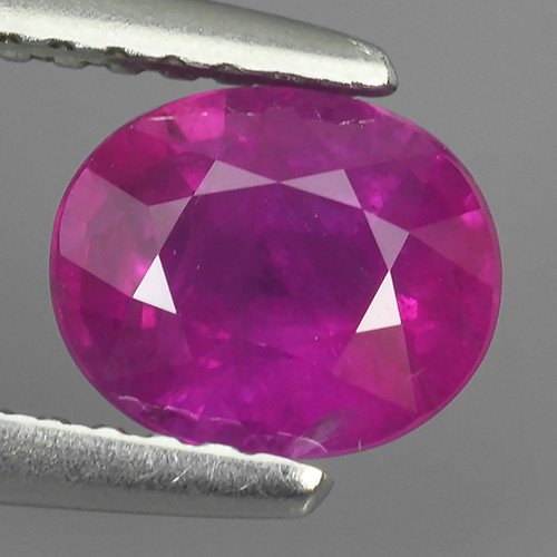 CERTIFIED 1.42 CTS VIVID PINKISH RED RUBY HEATED PEAR CUT