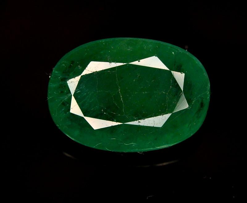 GIL CERT~4.64 Ct Natural Zambia Emerald Gemstone