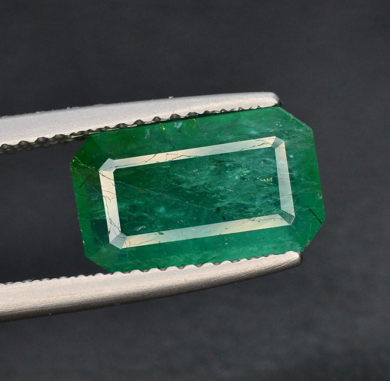 GIL CERT~3 Ct Natural Zambia Emerald Gemstone